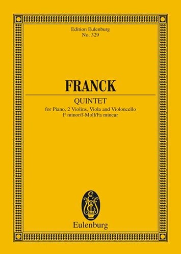 César Franck - Quintet in F minor - Partition - di-arezzo.co.uk