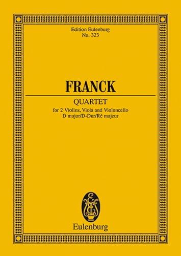 César Franck - Streichquartett D-Dur - Partitur - Partition - di-arezzo.com