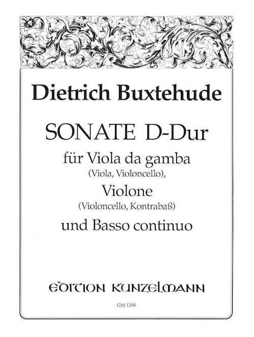Sonate en Ré Majeur - BUXTEHUDE - Partition - Trios - laflutedepan.com