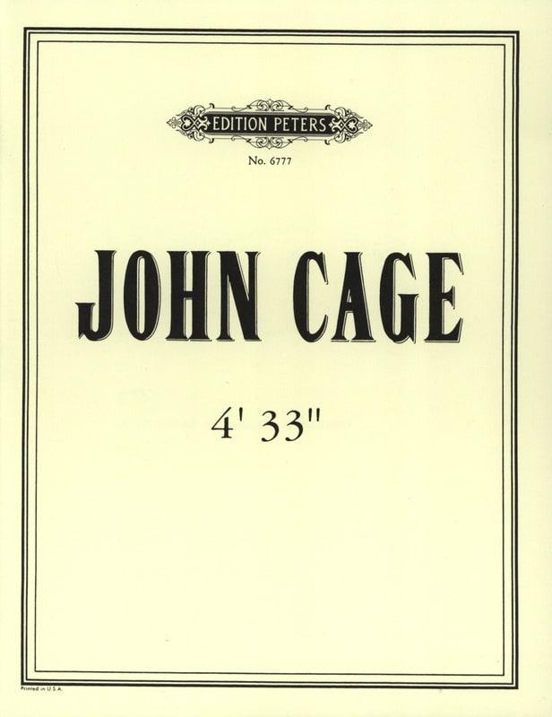 John Cage - 4'33 '' - Partition - di-arezzo.com