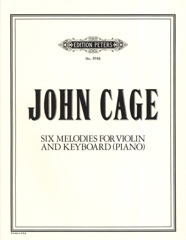 6 Melodies - CAGE - Partition - Violon - laflutedepan.com