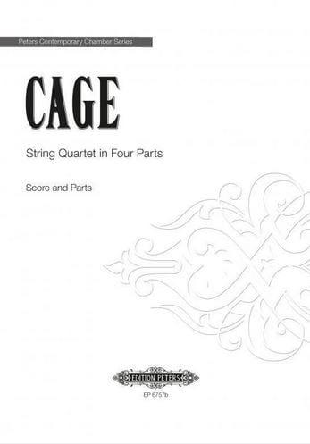 John Cage - String Quartet in four parts - Score - Partition - di-arezzo.com