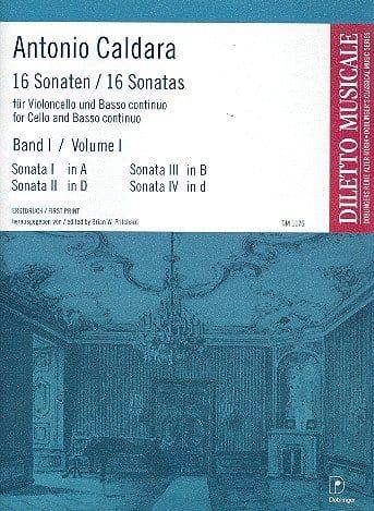 16 Sonates Volume 1 - Antonio Caldara - Partition - laflutedepan.com