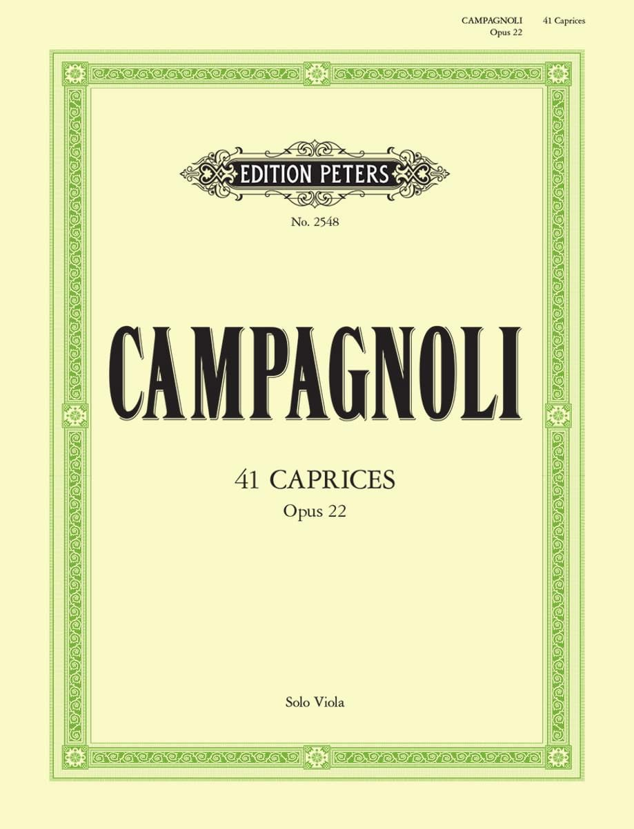 Caprices Op. 22 - Bartolomeo Campagnoli - Partition - laflutedepan.com