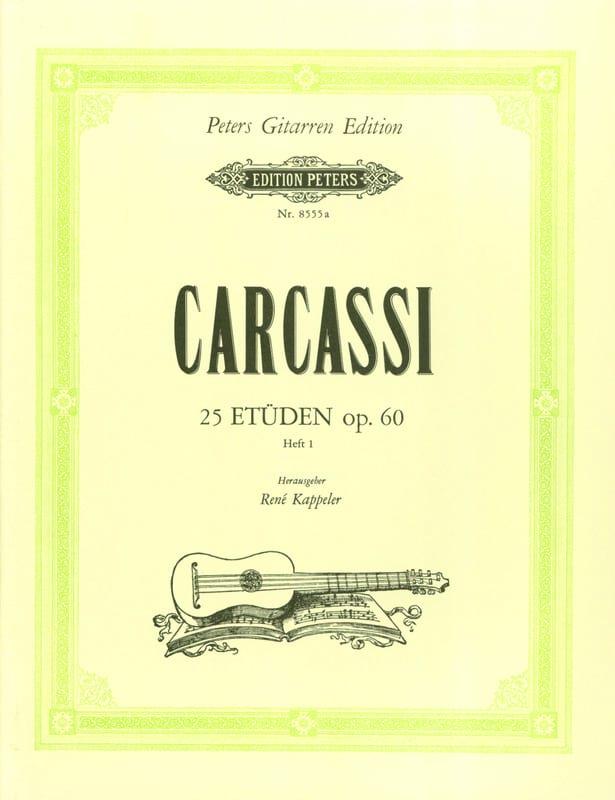 Matteo Carcassi - Etden op. 60 - Heft1 - Partition - di-arezzo.co.uk