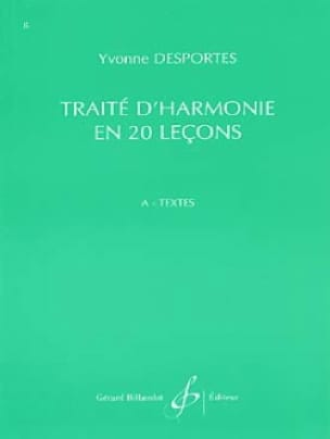Yvonne Desportes - Harmony In 20 Lecons - Additional Duties - Texts - Partition - di-arezzo.com