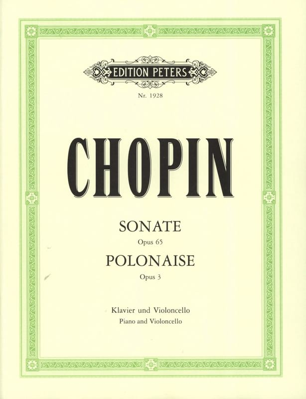 CHOPIN - Sonate op. 65 / Polonaise op. 3 - Partition - di-arezzo.fr