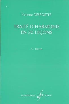 Yvonne Desportes - Traité d'Harmonie en 20 lecons - A. Textes - Partition - di-arezzo.fr