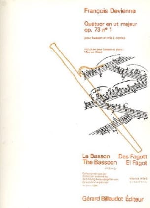 François Devienne - Quartet in C major op. 73 n ° 1 - Bassoon and piano - Partition - di-arezzo.com