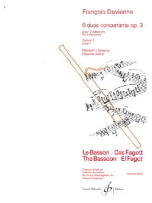 François Devienne - 6 Concurrent Duets op. 3 - Volume 1 - Partition - di-arezzo.com