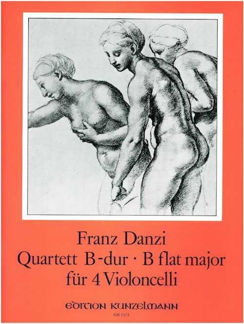 Quartett B-dur für 4 Violoncelli - Franz Danzi - laflutedepan.com