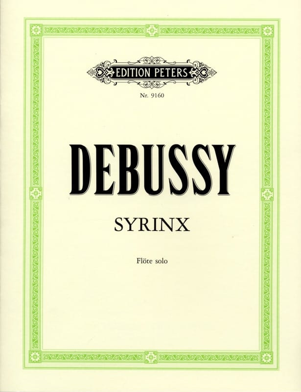 DEBUSSY - Syrinx - Solo flute - Partition - di-arezzo.co.uk