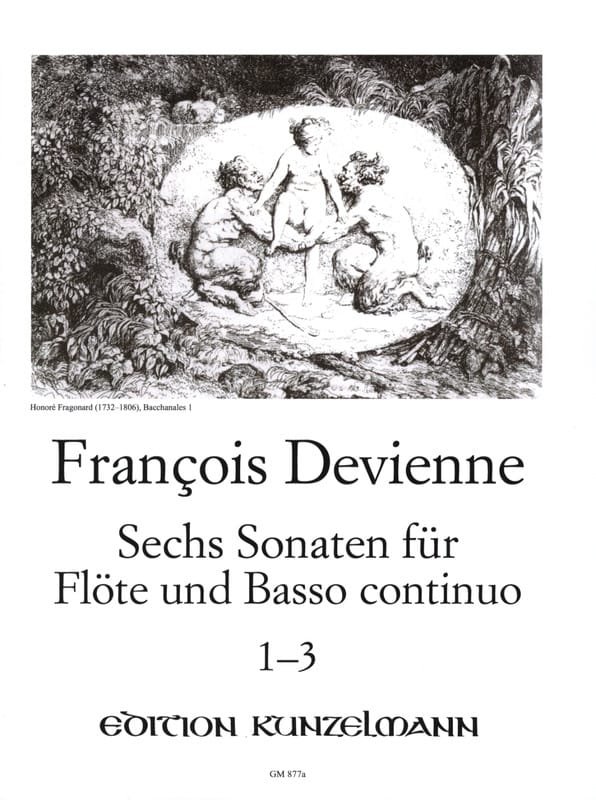 François Devienne - 6 Flötensonaten - Nr. 1-3 - Flöte u. Bc - Partition - di-arezzo.co.uk