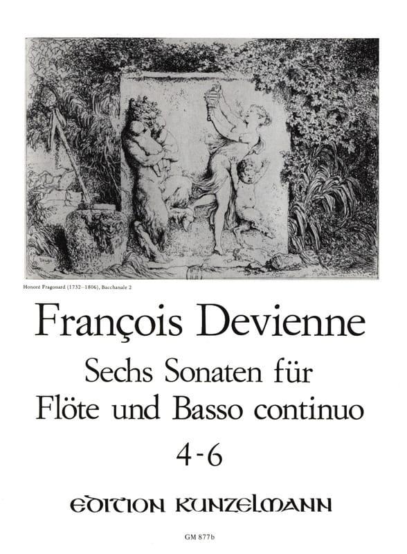 François Devienne - 6 Flötensonaten - Nr. 4-6 - Flöte u. Bc - Partition - di-arezzo.com