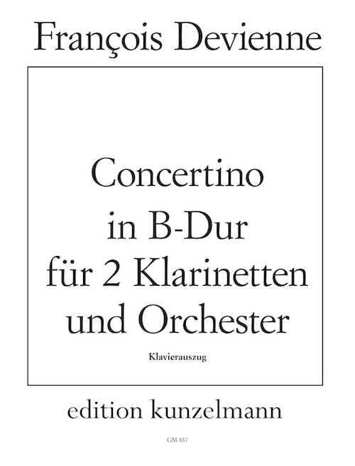 François Devienne - Concertino B-hard - 2 Klarinetten Klavier - Partition - di-arezzo.co.uk