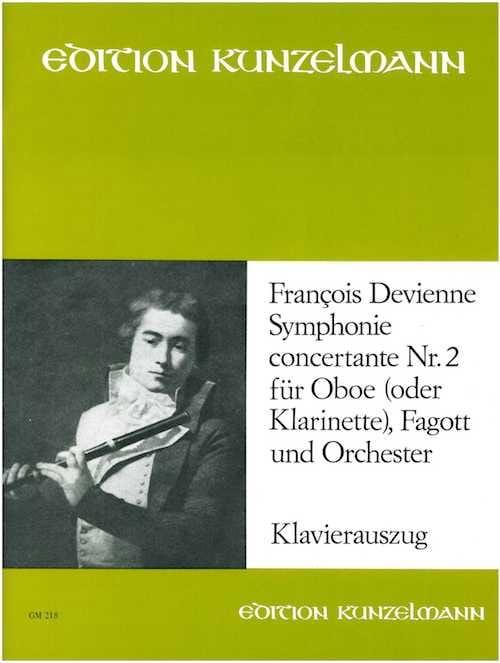 François Devienne - Concertante Symphony No. 2 - Oboe o. Klarinette Fagott Klavier - Partition - di-arezzo.co.uk