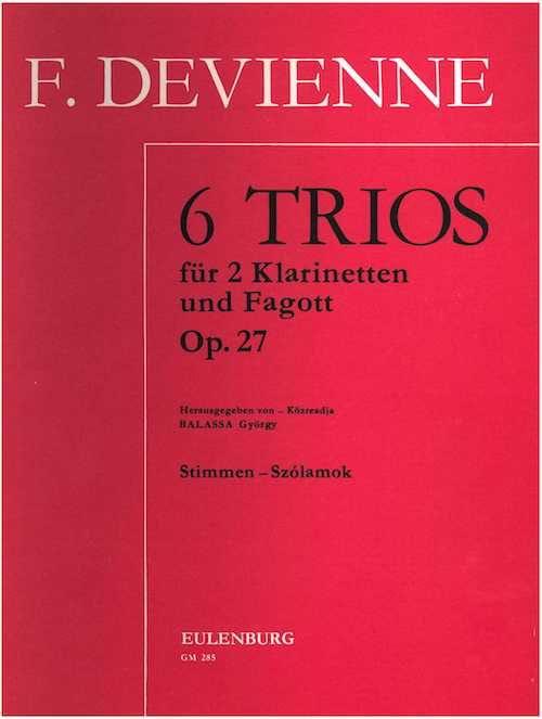 6 Trios op. 27 -2 Klarinetten Fagott - Stimmen - laflutedepan.com