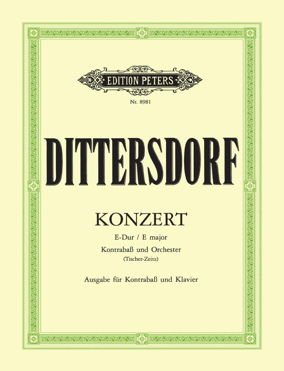 Carl Ditters von Dittersdorf - Konzert in E-Dur - Kontrabass - Partition - di-arezzo.co.uk