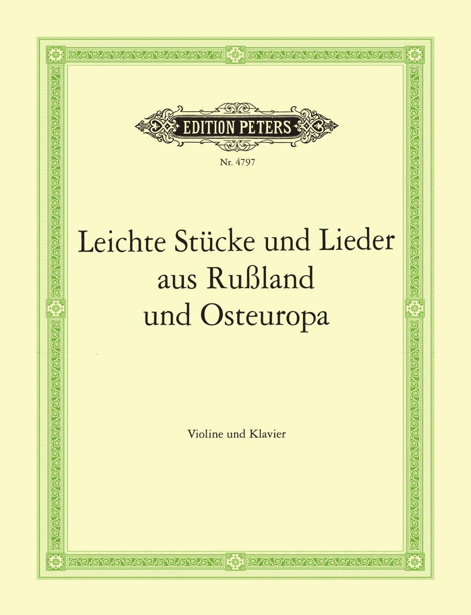 Leichte Stücke und Lieder aus Russland und Osteuropa - laflutedepan.com