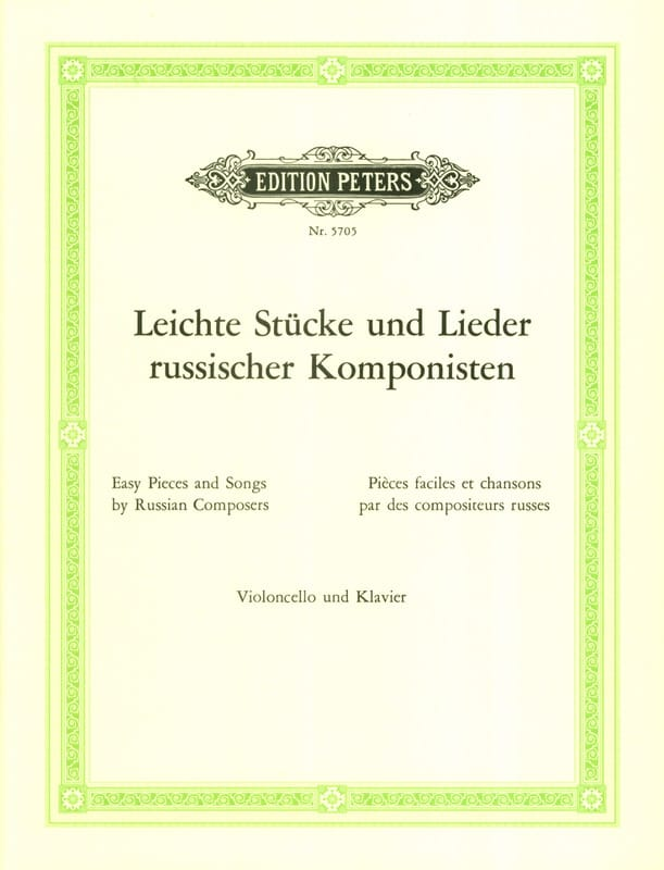 Leichte Stücke und Lieder russisscher Komponisten - laflutedepan.com