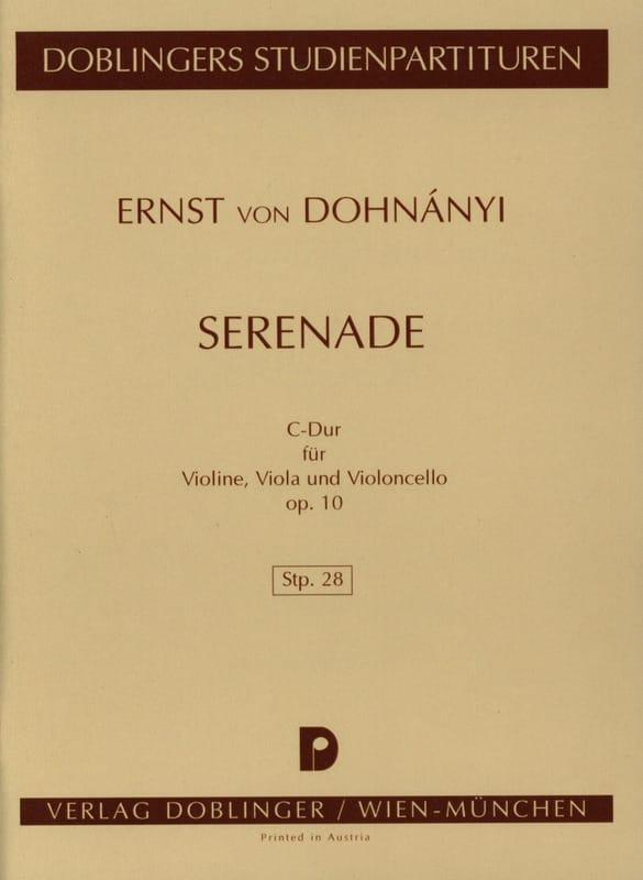 Serenade C-dur op. 10 - Partitur - DONHANYI - laflutedepan.com