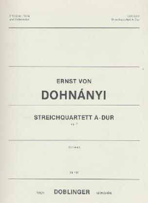 Streichquartett A-Dur op. 7 - Stimmen - DONHANYI - laflutedepan.com