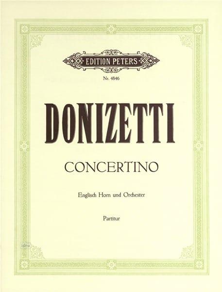 Gaetano Donizetti - Concertino G-Dur - Englisch Horn u. Orch. - Partitur - Partition - di-arezzo.es
