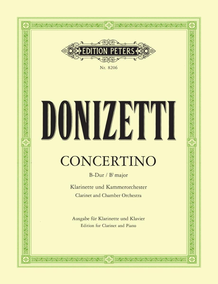 Gaetano Donizetti - Concertino in Si b Major - Partition - di-arezzo.co.uk