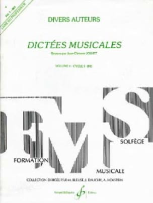 Jean-Clément Jollet - Musical Dictations Volume 1 - Prof. - Partition - di-arezzo.co.uk