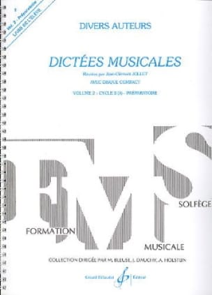 Jean Clément Jollet - Musical dictates - Volume 2 - Student - Partition - di-arezzo.co.uk
