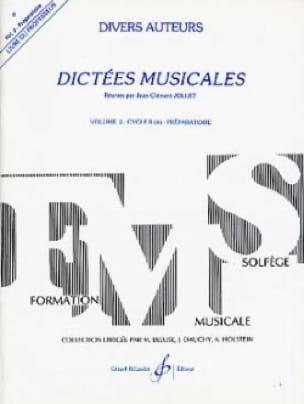 Jean-Clément Jollet - Musical Dictations Volume 2 - Prof - Partition - di-arezzo.co.uk