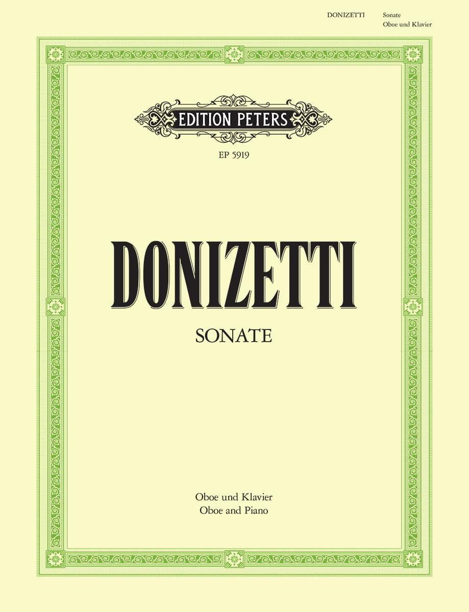 Sonate pour hautbois et piano - DONIZETTI - laflutedepan.com