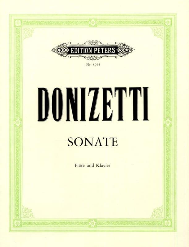 Sonate en Do Majeur - DONIZETTI - Partition - laflutedepan.com