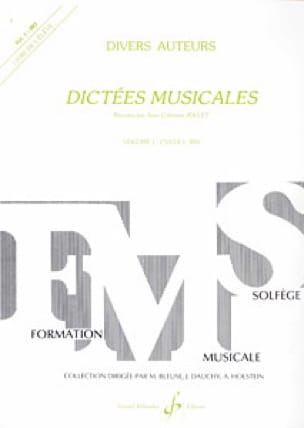Jean-Clément Jollet - Musical dictates - Volume 1 - Student - Partition - di-arezzo.co.uk