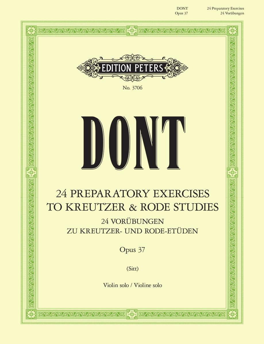 Etudes préparatoires op. 37 Sitt - Jacob Dont - laflutedepan.com