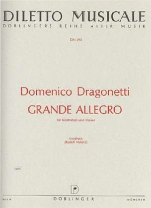Grande Allegro - Domenico Dragonetti - Partition - laflutedepan.com