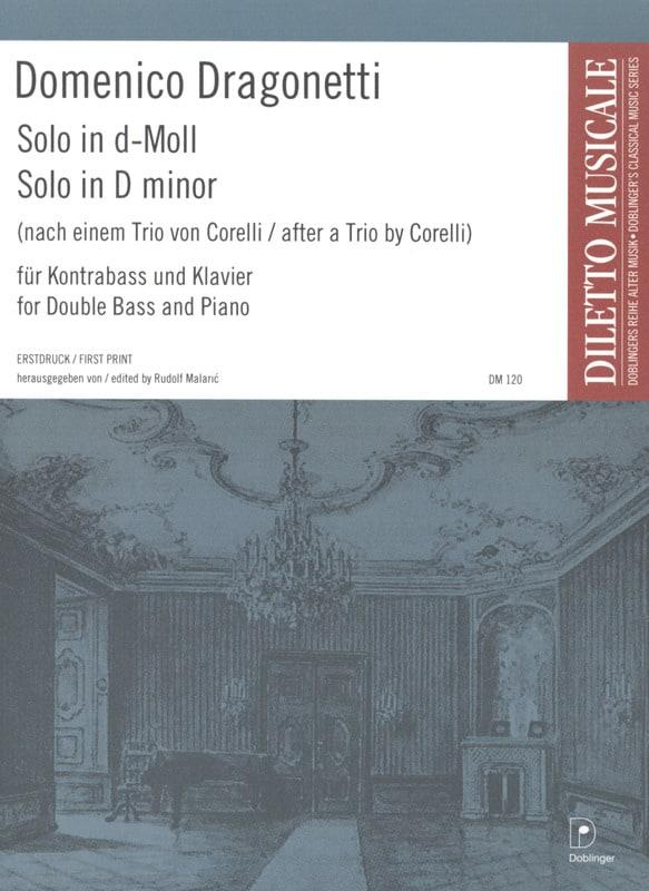 Solo in d-Moll - Domenico Dragonetti - Partition - laflutedepan.com