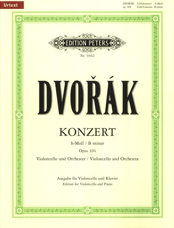 DVORAK - Cello Concerto If Minor, Op.104 - Partition - di-arezzo.co.uk