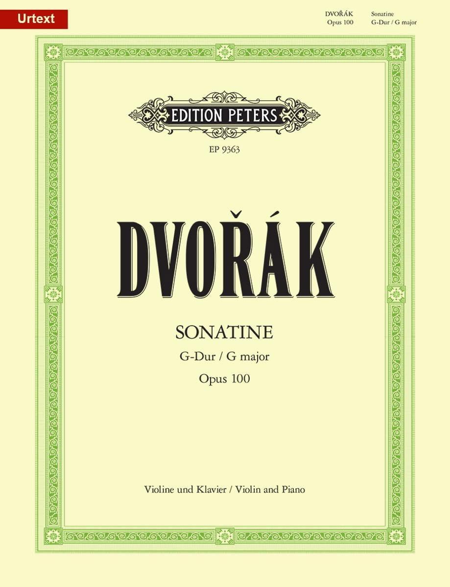 Sonatine Op. 100 en Sol Majeur - DVORAK - Partition - laflutedepan.com