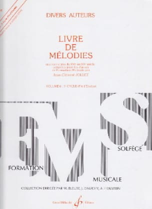 Jean-Clément Jollet - Book of Melodies Volume 6 - End of Studies - Partition - di-arezzo.co.uk