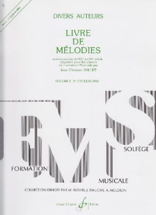 Jean-Clément Jollet - Melodies Volume 2 - Cycle One B - Partition - di-arezzo.co.uk