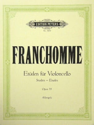 Auguste Franchomme - Etüden für Violoncello, op. 35 - Partition - di-arezzo.co.uk