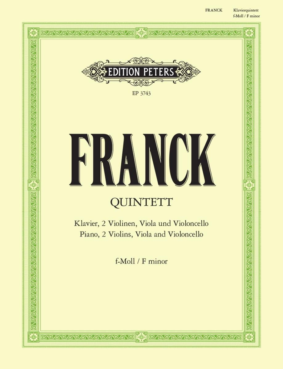 Quintette avec piano en fa mineur -parties instrumentales - laflutedepan.com
