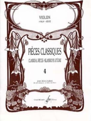 Pièces Classiques Volume 4 - Partition - Violon - laflutedepan.com