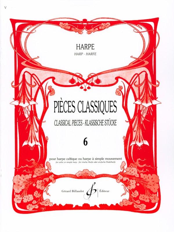 Pièces classiques Volume 6 -Harpe - Partition - laflutedepan.com