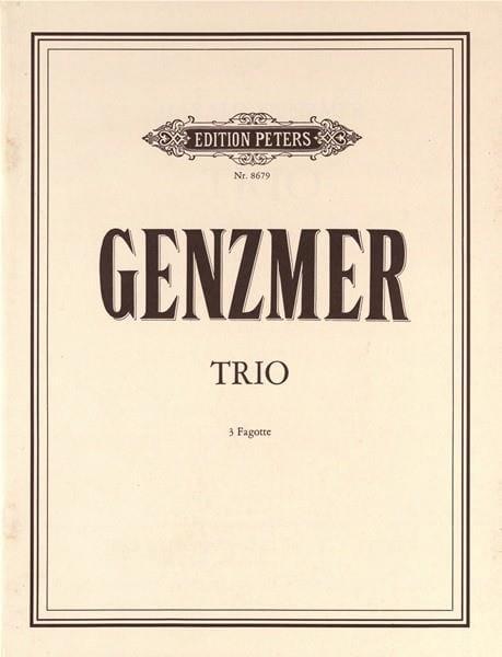 Trio - Harald Genzmer - Partition - Basson - laflutedepan.com