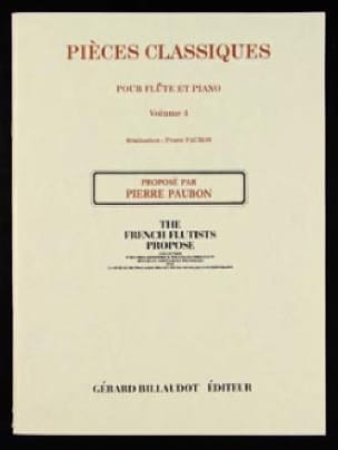 Pierre Paubon - Classical Pieces - Volume 4 - Flute and Piano - Partition - di-arezzo.co.uk