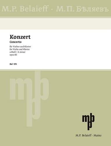 Alexandre Glazounov - Violinkonzert in Opus Minor 82 - Partition - di-arezzo.de
