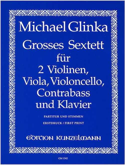 Michail Glinka - Large Sextet in Eb Shift. - Partition - di-arezzo.co.uk