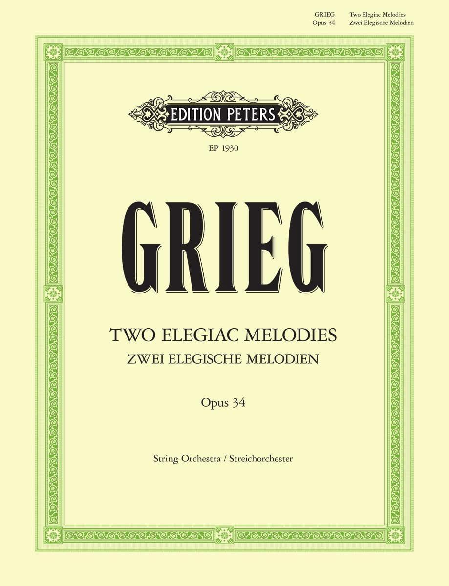 Edvard Grieg - 2 Elegische Melodien op. 34 - Partitur - Partition - di-arezzo.co.uk